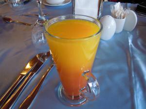 ざくろとオレンジのミックスジュース
