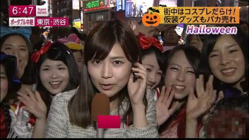 ハロウィンコスプレで盛り上がる渋谷