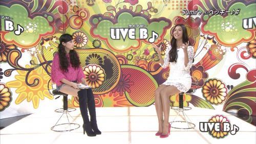TBS「ライブB」に登したベッキー