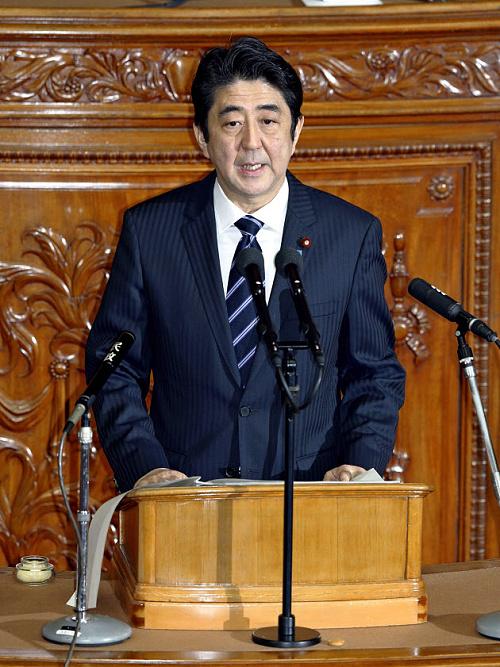 安倍首相の所信表明演説