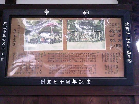 熊野神社少年勤王隊