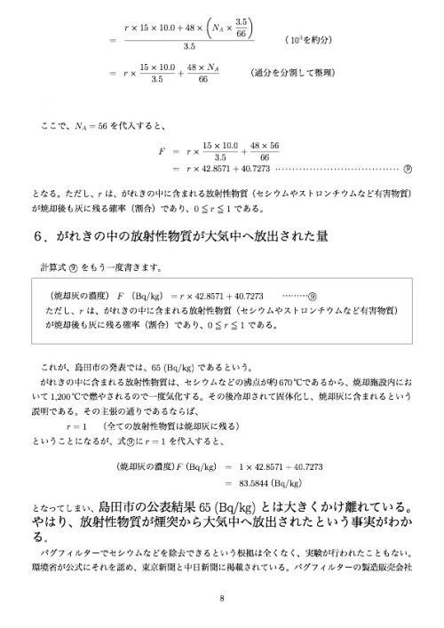静岡県島田市の汚染がれき焼却による  がれきのベクレル表示の不正ポイント8