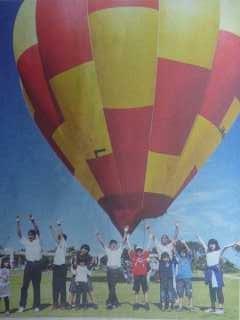竹富町の熱気球体験