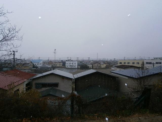 2014初雪の街