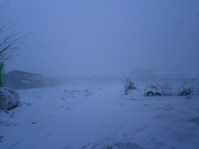吹雪の模様。