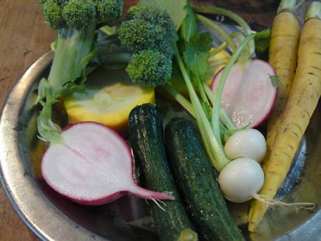 契約農家からの有機野菜