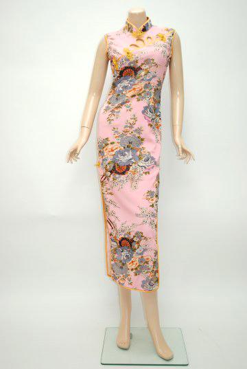 花車ゴールドパイピング ロングドレス