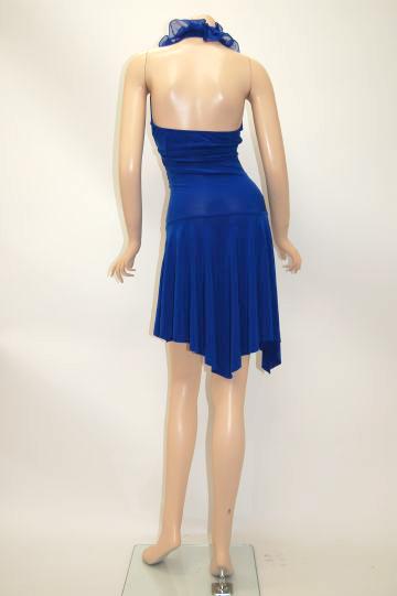 フリフリホルターネック ショートドレス