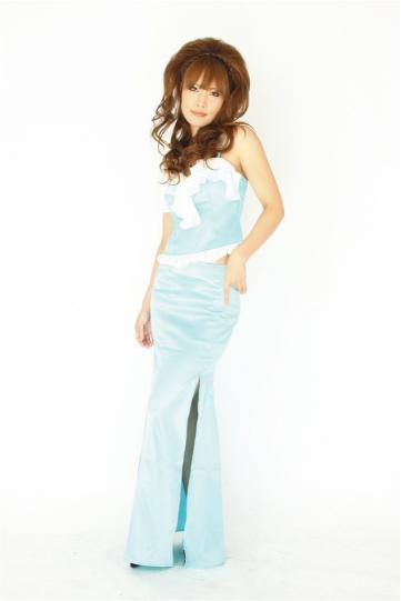 glossオリジナル シフォンフリル2P ロングドレス