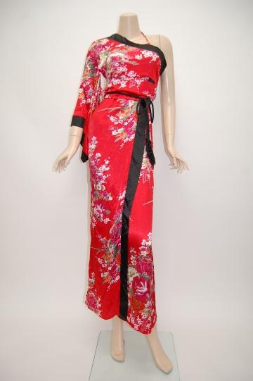 ビジュー付き☆大人ドレス ブラック ロングドレス 7号