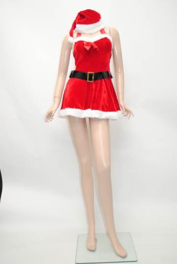 ベルト付きホルターネック サンタドレス