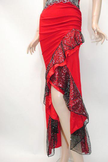 キラキラスパンコール刺繍 紐ホルター ロングドレス