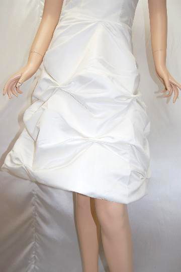 ふわふわバルーンシンプル ミディアムドレス