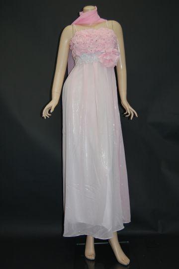 ピンク ロングドレス 9号