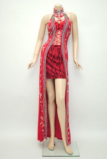BETTY掲載ドレス ゴージャスホルターストーン☆セクシースピンドル ロングドレス
