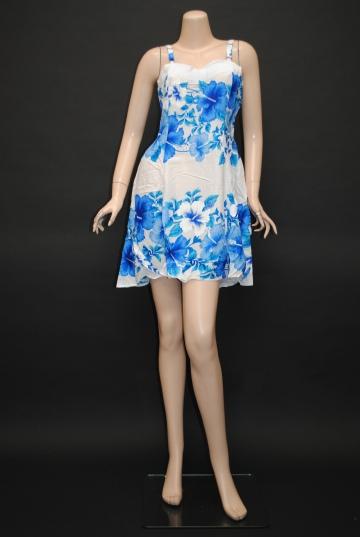 ハワイアン ハイビスカスドレス