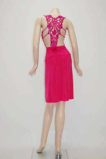 sexyタトゥーレース ショートドレス