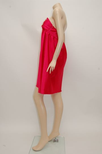 ベアトップ胸元ピラミッド ショートドレス