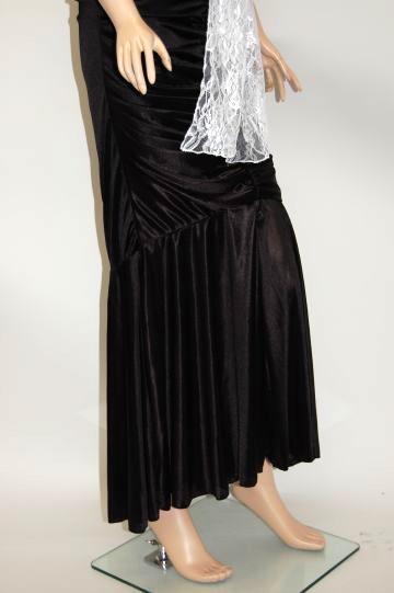 姫系マーメイド ふわふわレースリボン ロングドレス