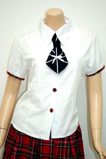 ネクタイ付きラブリーチェック柄制服 コスチューム