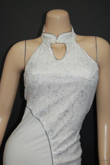 ホワイト ロングドレス