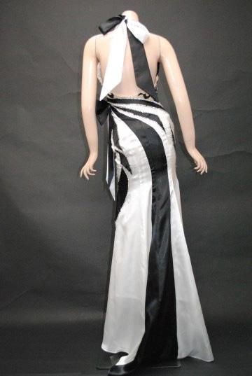 小悪魔ageha掲載ドレス トライバル2トーンカラー ホルター ロングドレス