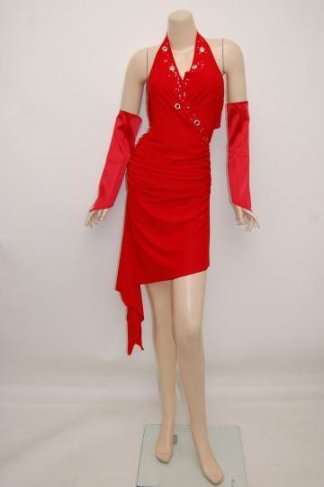 glossオリジナル カシュクールホルター ショートドレス