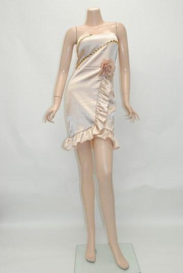 ビジューコサージュ付き ショートドレス