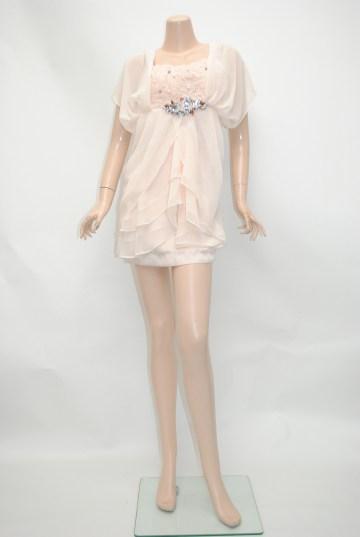 トライアングルビジュ ショートドレス