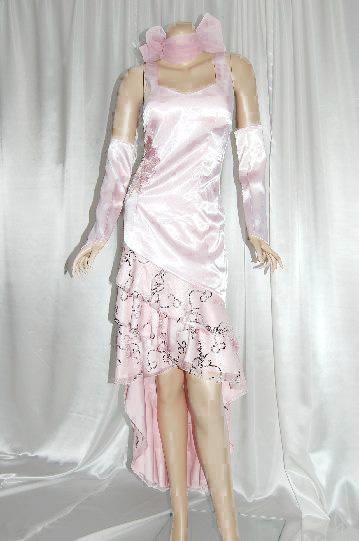 ウエスト花刺繍★CUTE★ ロングドレス