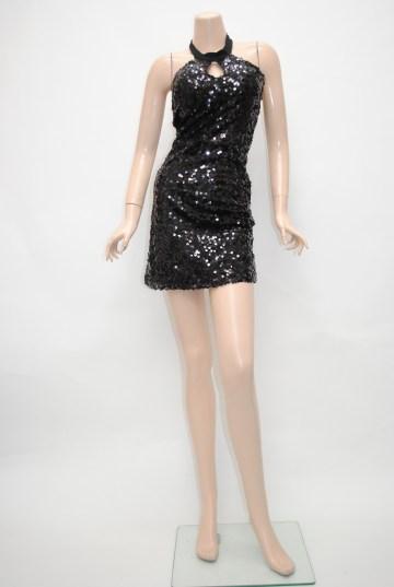 キラキラ総スパンコール ショートドレス
