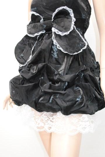 フロントリボンレース使い ショートドレス