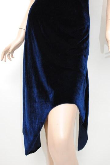 ベロア風 アシンメトリー ショートドレス