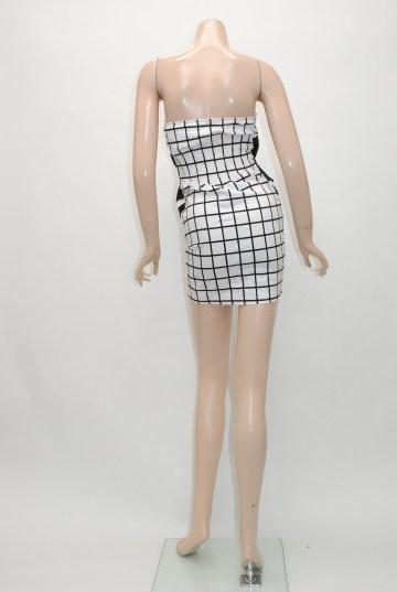 ワンポイントリボン チェック柄 ショートドレス