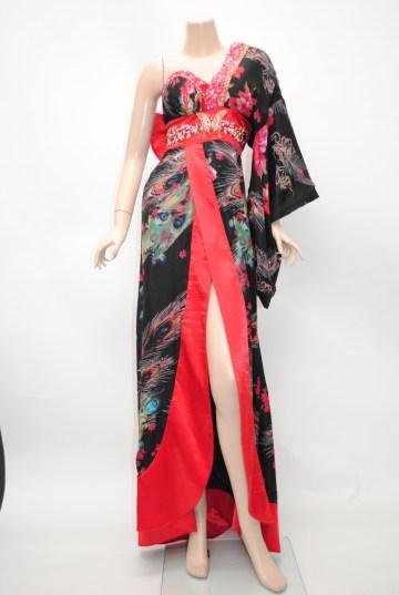艶やか花魁風 ロング 着物ドレス
