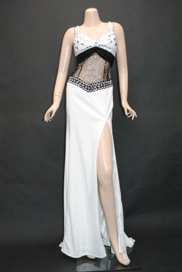 ageha掲載 ウエスト&胸元魅惑のshine ロングドレス
