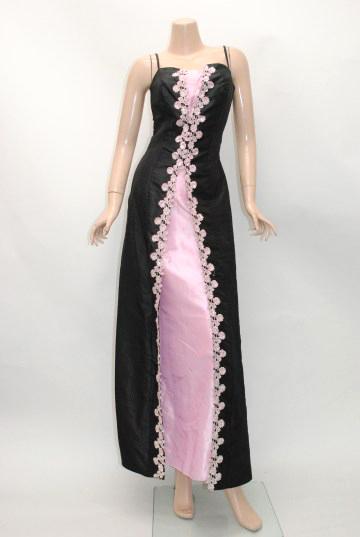クラシカル オープンカット ロングドレス