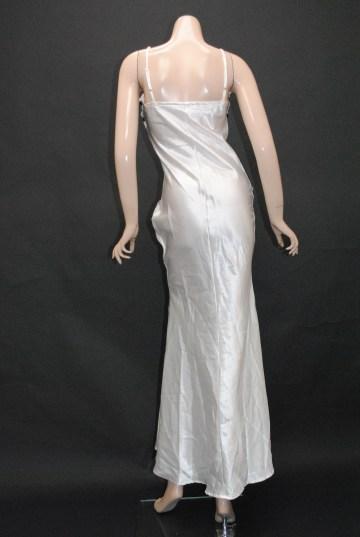 薔薇モチーフレース スマートライン ロングドレス