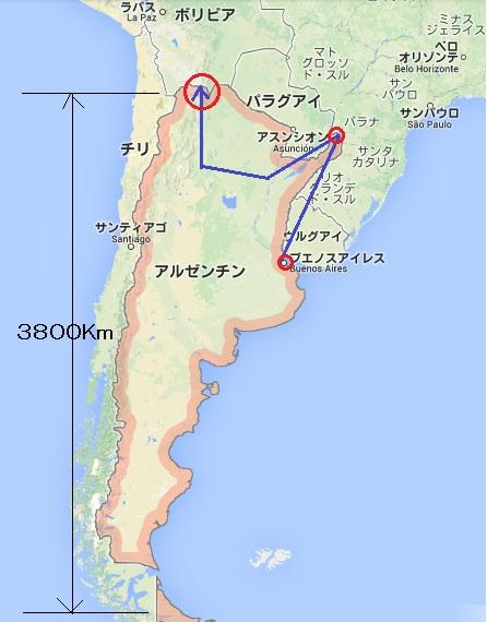アルゼンチン地図