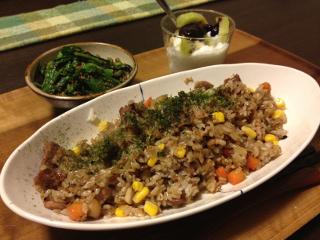 Apr11_醤油風味の炒飯