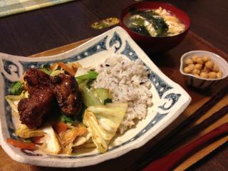 Apr16_唐揚げのせ野菜丼