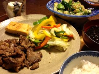 Aug07_豚肉の生姜焼き