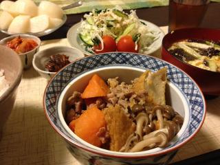 AUg13_厚揚げと豚肉の煮物