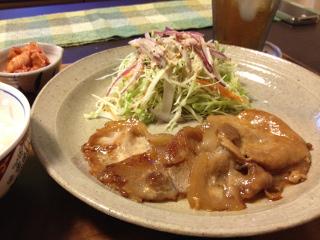 Aug15_豚ロースのタレ漬け焼き