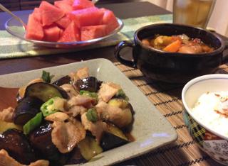 Aug22_夏野菜と豚肉炒め