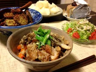 Sep10_鶏の炊き込みご飯