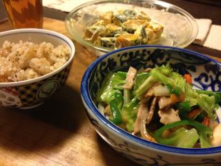 Oct16_野菜炒め中華味