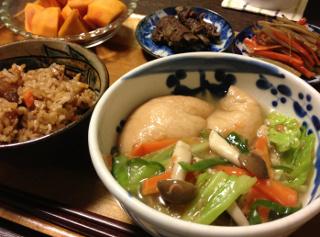 NOv14_丸麩のあんかけ野菜