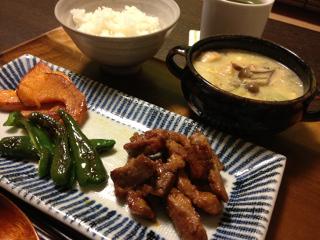 Nov26_豚生姜漬け焼き