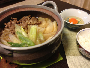 Jan21_すき焼き風鍋